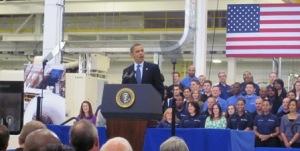 President Obama visits Prince George Virginia