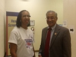Cynthia Mitchell and Congressman Bobby Scott
