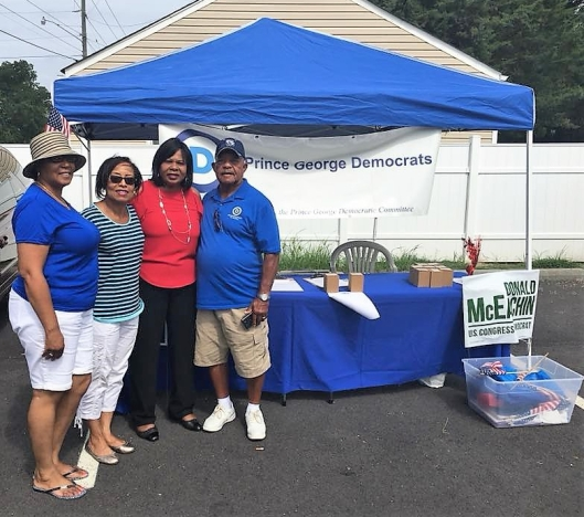 Booth at Hopewell Dems Community Day 081818 (2)